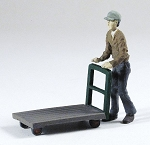 O Scale Man to Push Truck